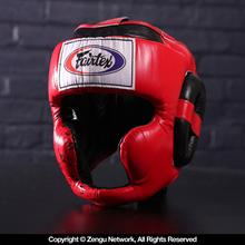 Fairtex HG10 Super Sparring Head guard - Red